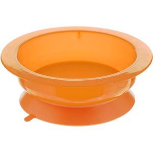 Тарелка глубокая  Вкусные фрукты на присоске, цвет: оранжевый Курносики