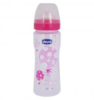 Бутылочка  полипропилен с 4 мес, 330 мл, цвет: розовый Chicco