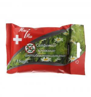 Влажные салфетки  антибактериальные, 15 шт Minimax
