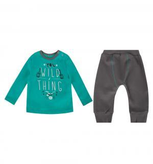 Комплект джемпер/брюки , цвет: бирюзовый/серый Bembi
