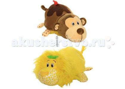 Мягкая игрушка  Вывернушка Ням-ням Лев и Мартышка 35 см 1 Toy