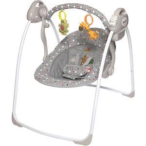 Электрокачели Riva, , серые Baby Care. Цвет: серый