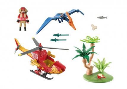 Конструктор  Динозавры Вертолет для приключений с птеродактилем Playmobil