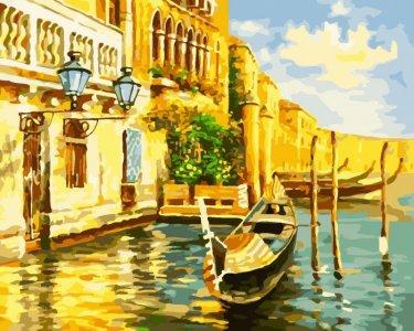 Картина по номерам на подрамнике Золотой город 50х40 см Color Kit