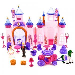, Замок для кукол с мебелью, фигурками и аксесс., (свет, звук) No Name
