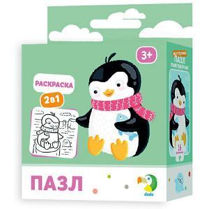 Пазл-раскраска 2-в-1 Dodo Пингвинчик, 16 элементов Dido