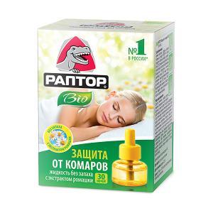 Жидкость от комаров  BIO с экстрактом ромашки, 30 ночей Раптор
