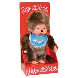 Мягкая игрушка  Мончичи, мальчик в синем слюнявчике, 20 см Monchhichi