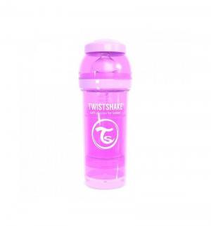 Бутылочка  для кормления антиколиковая пластик с рождения, 260 мл, цвет: фиолетовый Twistshake