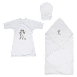 Комплект рубашка/пеленка/косынка Зайка Моя