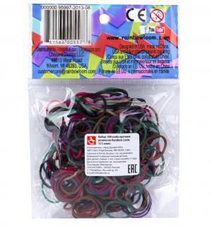Набор цветных резиночек  Хэллоуин для плетения Микс Rainbow Loom