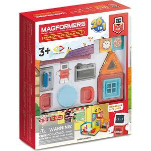 Магнитный конструктор  Minibots Kitchen Set, 33 элемента MAGFORMERS