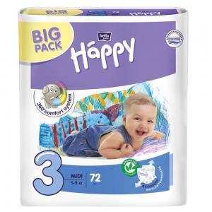Подгузники  Baby Happy Midi 3 (5-9 кг) 72 шт. Bella