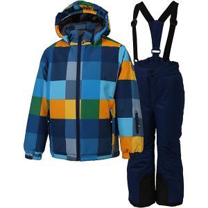 Комплект Color Kids Streep: куртка и полукомбинезон. Цвет: синий