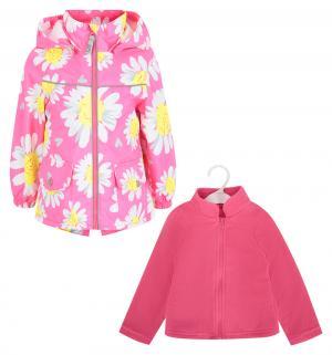 Комплект толстовка/ветровка , цвет: желтый/розовый Stella