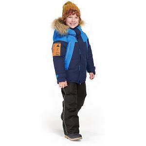 Комплект Oldos Дариан: куртка и полукомбинезон. Цвет: синий