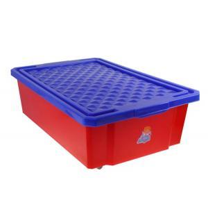 Ящик для игрушек , цвет: красный Little Angel