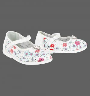 Туфли , цвет: белый Прыг-Скок