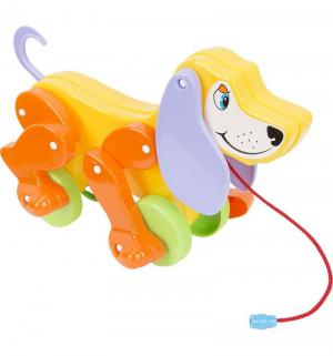 Каталка с веревочкой  Собака Боби, оранжевые лапы Полесье