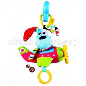 Подвесная игрушка  Щенок в самолете мягкая музыкальная Yookidoo