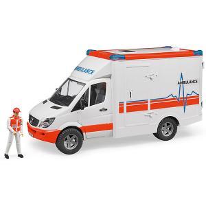 Машинка  Скорая помощь MB Sprinter, с фигуркой водителя Bruder
