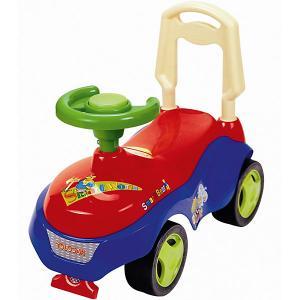 Машина-каталка  с сигналом-пищалкой, красно-синяя Bugati