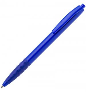 Шариковая авторучка с металлизированным наконечником  синяя резиновой вставкой Sponsor