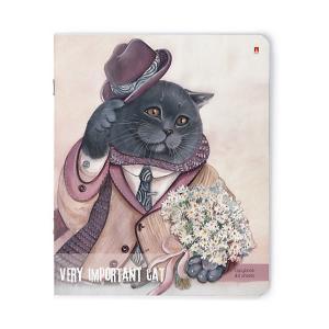 Комплект тетрадей  Особо важные коты, клетка, 48 листов Альт