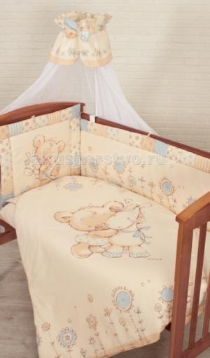 Комплект в кроватку  Mika (7 предметов) Золотой Гусь