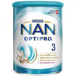 Детское молочко  Optipro 3 с 12 месяцев, 400 г Nan