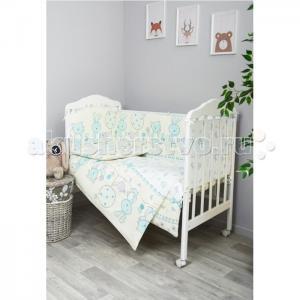 Комплект в кроватку  Акварель (7 предметов) Сонный гномик