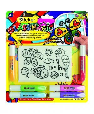 Игровой набор для рисования витражей Наклейки Angel Clay