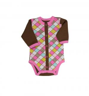 Боди  Кашемир, цвет: коричневый/розовый Трия