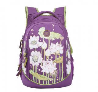 Рюкзак  цвет: фиолетовый 29х40х19 см Grizzly