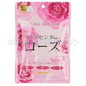 Маска для лица с экстрактом розы натуральная 7 шт. Japan Gals