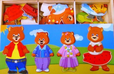 Деревянная игрушка  Четыре медведя Мир деревянных игрушек