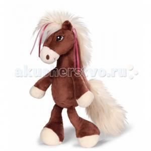 Мягкая игрушка  Лошадка Вельвет коричневая сидячая 80 см Nici