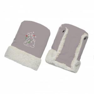 Муфта-Варежки для коляски (ткань курточная/мех) Ангелочки