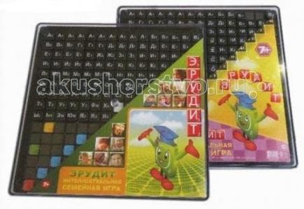 Настольная игра Эрудит (черные фишки) 10011 Биплант