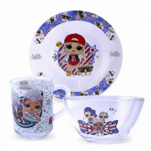 ND Play Набор посуды из стекла L.O.L. Surprise Together4Eva(3 предмета)