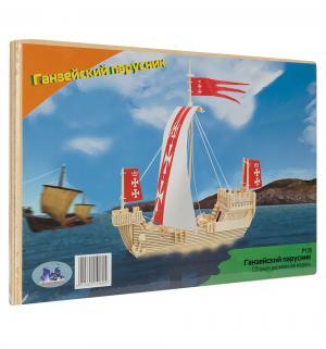 Сборная деревянная модель  Ганзейский парусник Wooden Toys