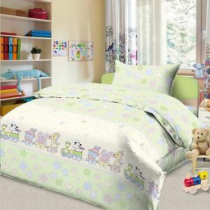 Детское постельное белье 3 предмета , BG-87 Letto. Цвет: белый