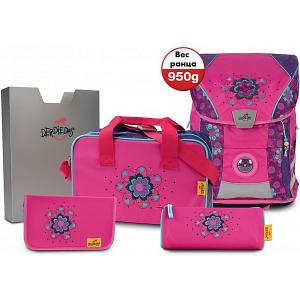 Ранец  ErgoFlex Vario с наполнением ЦветочкиЦ DerDieDas. Цвет: розовый