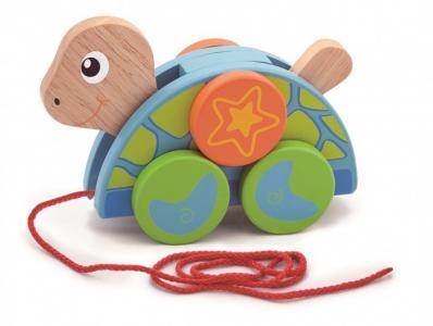 Каталка-игрушка  на веревочке Черепаха Viga