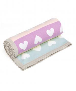 Одеяло  Конфетти вечеринка Сердечки, цвет: розовый Mothercare