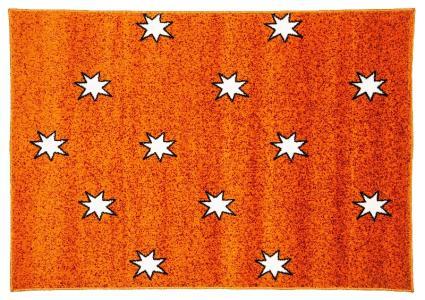 Ковер Night Flash  с рисунком звездочки, размер 117х170, цвет оранжевый Sai Carpets