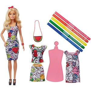 Игровой набор Barbie Crayola Кукла с одеждой и ароматными фломастерами Mattel