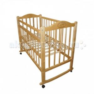 Детская кроватка  Мой малыш 4 колесо-качалка Ивашка