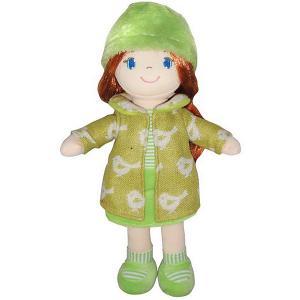 Мягкая кукла  рыжая в зелёном пальто, 36 см ABtoys. Цвет: зеленый