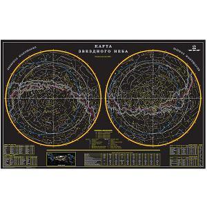 Карта Звездное небо 156х101 Издательство Ди Эм Би